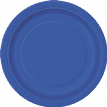 "Small Royal Blue Plates - 7"" Paper Plates (20pcs)"